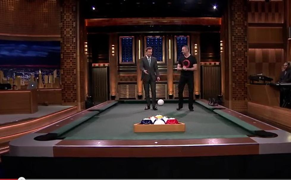 Ever Played Pool On A LifeSize Pool Table Jimmy Fallon Has - Life size pool table