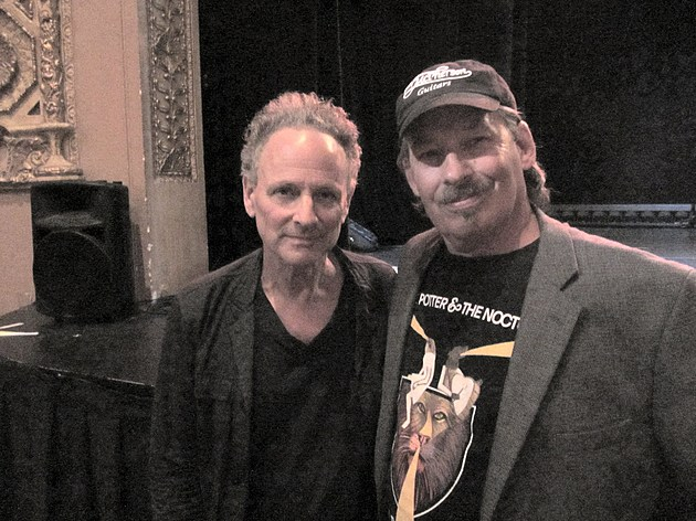 with Lindsey Buckingham of Fleetwood Mac - Hoyt-Sherman Place Sept 2012 - Des Moines, IA