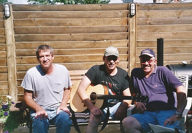 brother Jerry w/ Steve Richards (center) & brother Jim - Horicon, WI