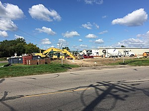 The construction site on Valleyhigh Drive at 7th Street NW. (CSJ/TSM-Rochester)