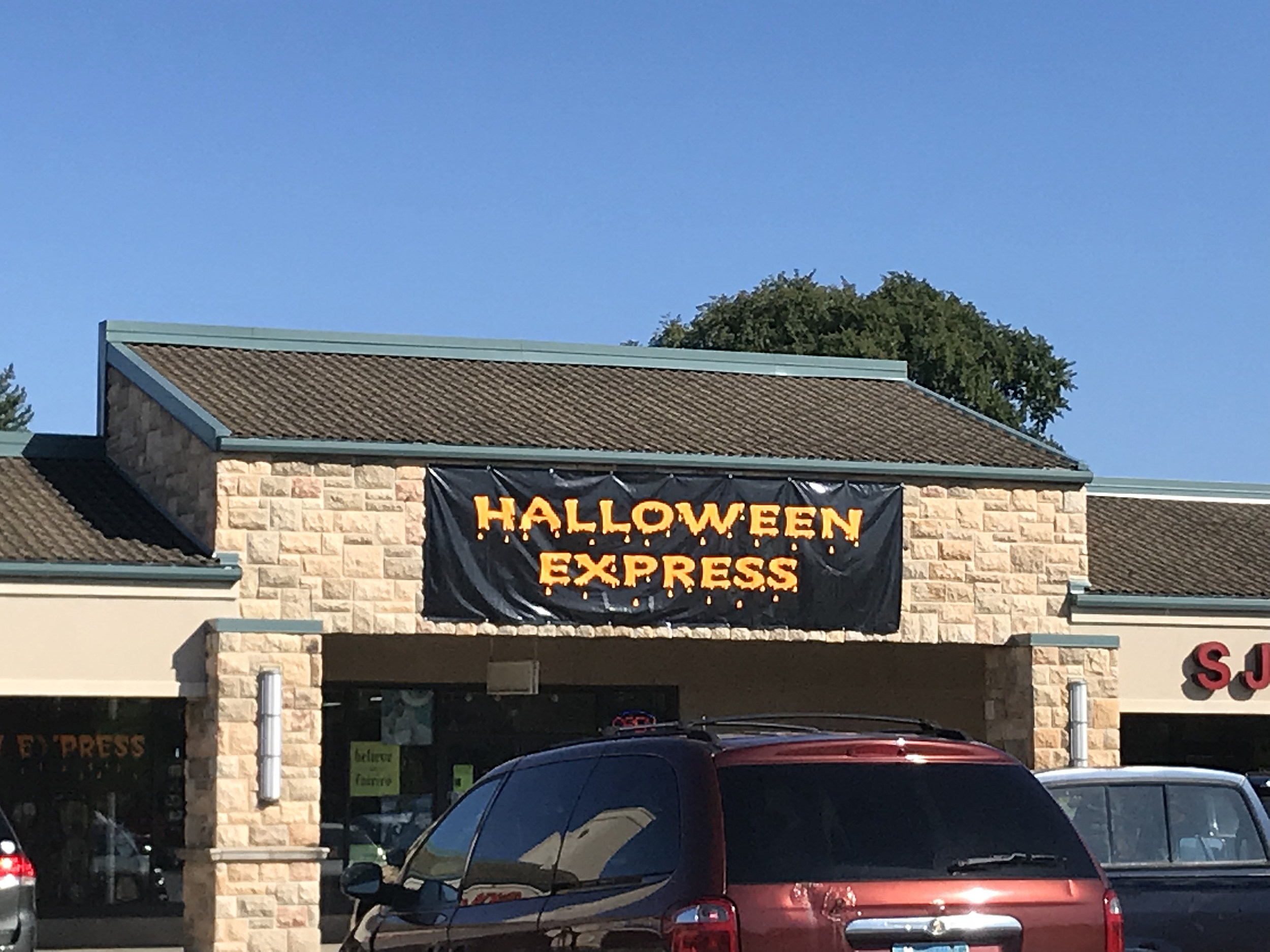 did anyone else notice rochester's 'halloween express' moved?